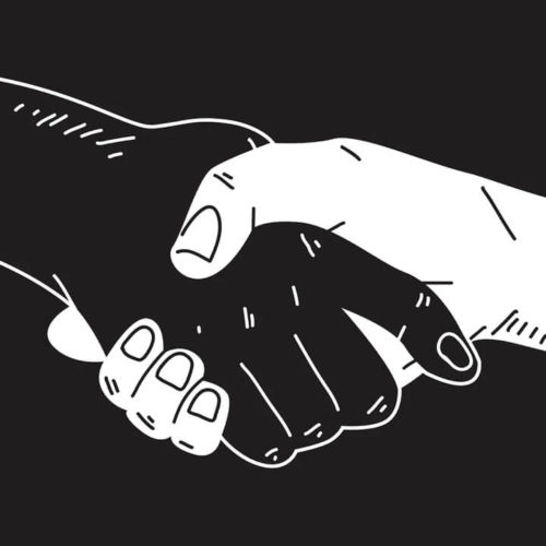 Hands shaking comic style vector - image by © rawpixel